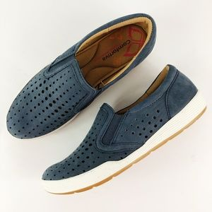 [COMFORTIVA] Lyra Slip on Shoes Perforated Suede
